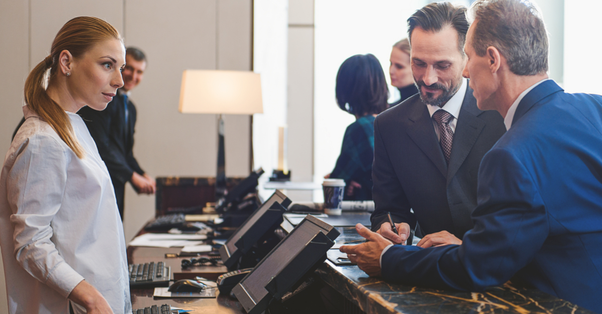 Checking in with hotel payroll