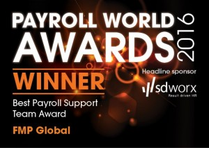 Finalist logo best Payroll Support Team award 2016